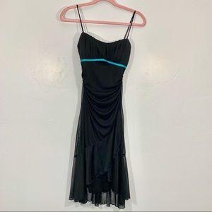 Vintage | Y2K 90's Black Turquoise Accent Dress